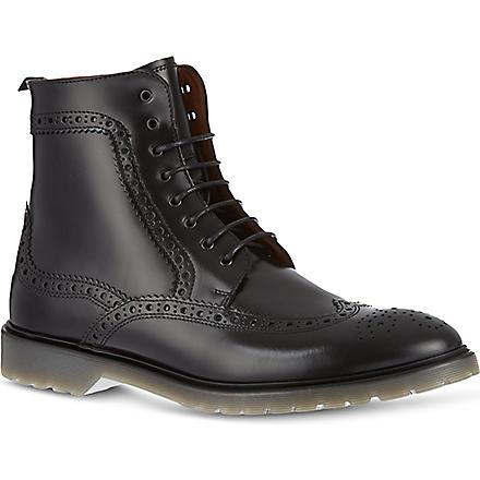 KG KURT GEIGER Jeremiah brogue-style boots (Black