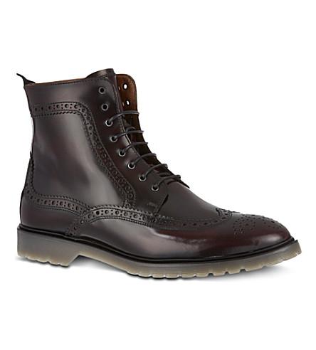 KG KURT GEIGER Jeremiah brogue-style boots (Wine