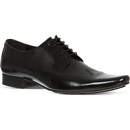 H BY HUDSON Johnson Long Wingcap shoes (Black