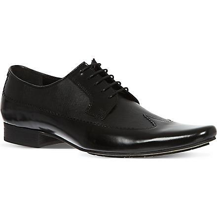 H BY HUDSON Johnson Long Wingcap shoes (Black