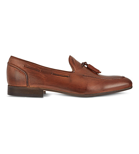 H BY HUDSON Pierre tassle loafers (Tan