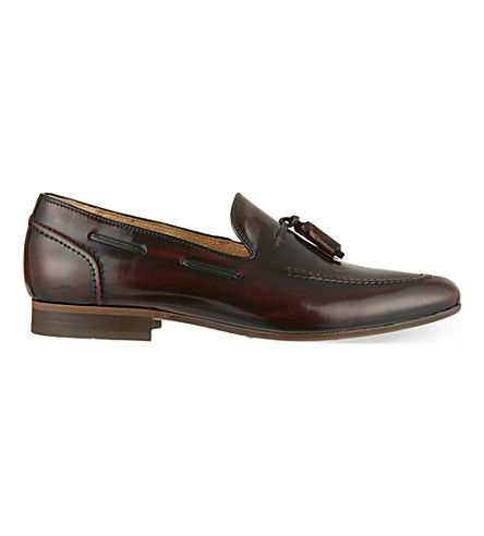 H BY HUDSON Pierre tassle loafers (Wine