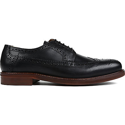 H BY HUDSON Patton wingcap Derby shoes (Black