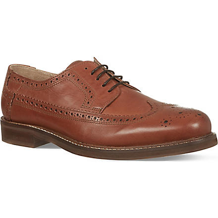 H BY HUDSON Patton wingcap derby shoes (Tan