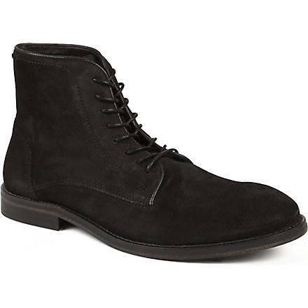 H BY HUDSON Smyth suede boots (Grey/dark