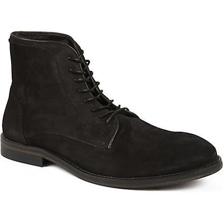 H BY HUDSON Smyth suede boots (Grey/dark