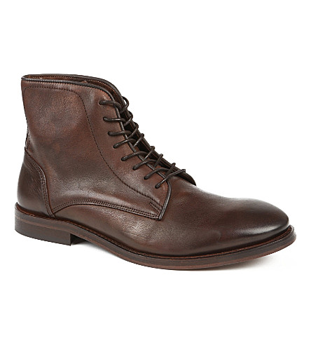 H BY HUDSON Smyth leather boots (Brown