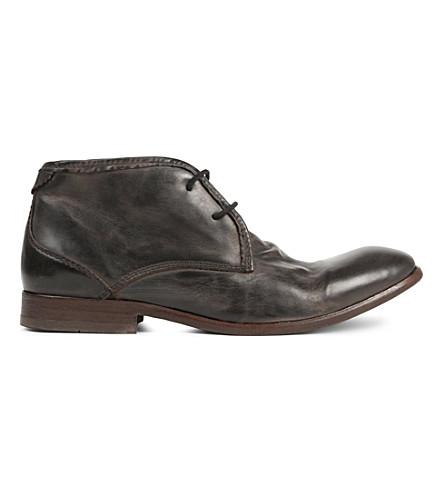 H BY HUDSON Cruise leather desert boot (Black