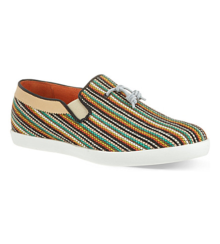 H BY HUDSON Fountain woven slip on shoes (Mult/other