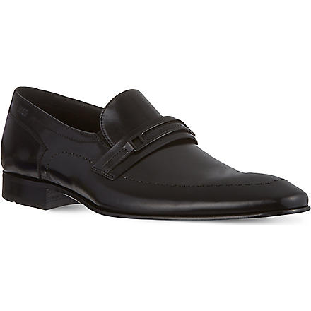 HUGO BOSS Cellios leather slip-on shoes (Black