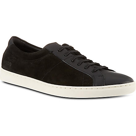 HUGO BOSS Fusseo suede trainers (Black