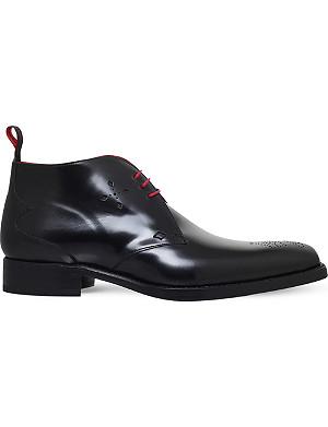 JEFFERY WEST Dexter cross-embossed chukka boots