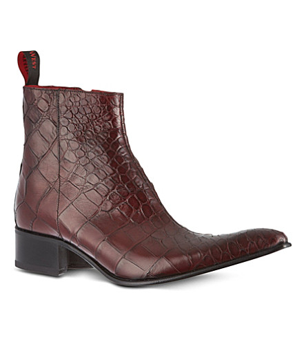 JEFFERY WEST Romano boots (Wine