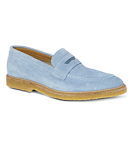 BESPOKEN Suede loafers (Blue