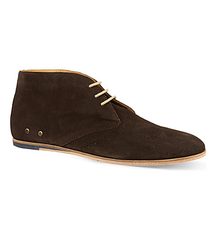 BESPOKEN Leather desert boots (Brown
