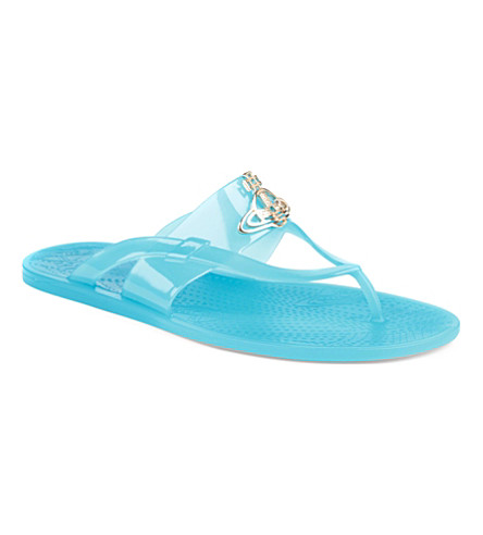 VIVIENNE WESTWOOD Orb-detailed thong sandals (Green