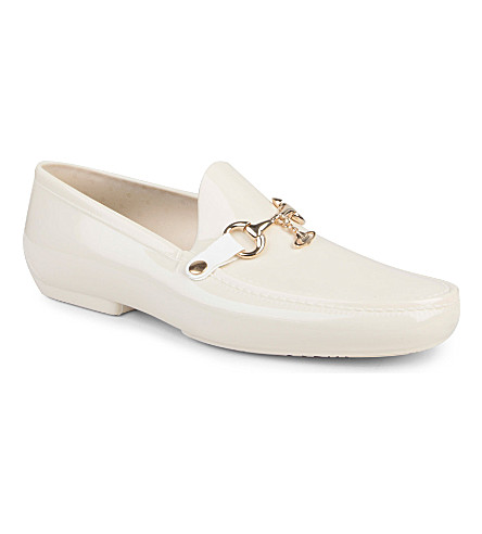 VIVIENNE WESTWOOD PVC orb charm loafers (White