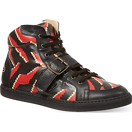 VIVIENNE WESTWOOD Tiger Print high-tops (Black/comb