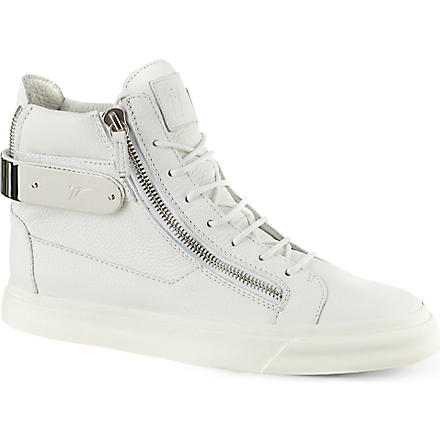 GIUSEPPE ZANOTTI Back bangle high tops (White