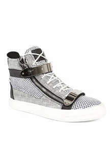 GIUSEPPE ZANOTTI Double-bangle graphic high-top trainers