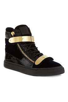 GIUSEPPE ZANOTTI Double bangle high top trainers