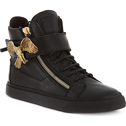GIUSEPPE ZANOTTI Eagle high-top trainers (Black