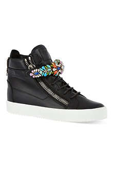 GIUSEPPE ZANOTTI Jewel embellished high-tops