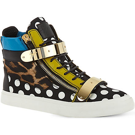 GIUSEPPE ZANOTTI Polka-dot high-top trainers (Mult/other