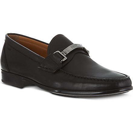 BALLY Corton leather moccasins (Black