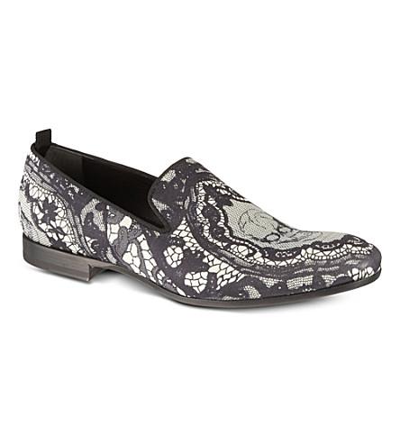 ALEXANDER MCQUEEN Skull print slippers (Blk/white