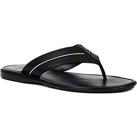 BALLY Davide perforated thong sandals (Black