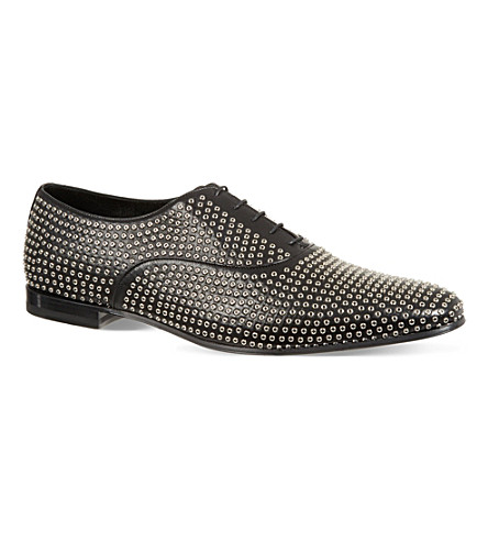 SAINT LAURENT Stud oxford shoes (Black