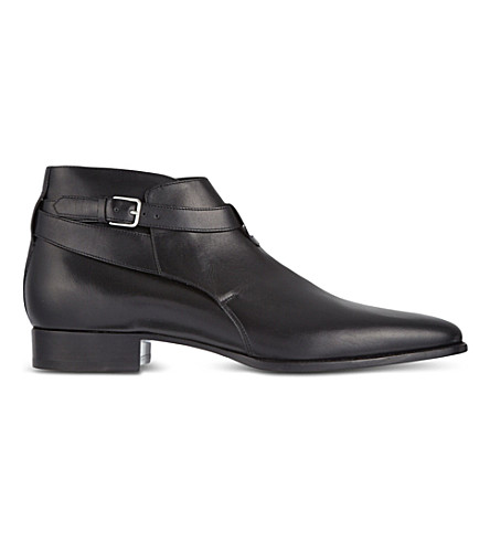 SAINT LAURENT New Blake jodphur boots (Black