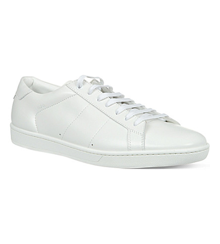 SAINT LAURENT Lo leather trainers (White