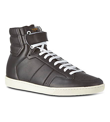 SAINT LAURENT High-top trainers (Black