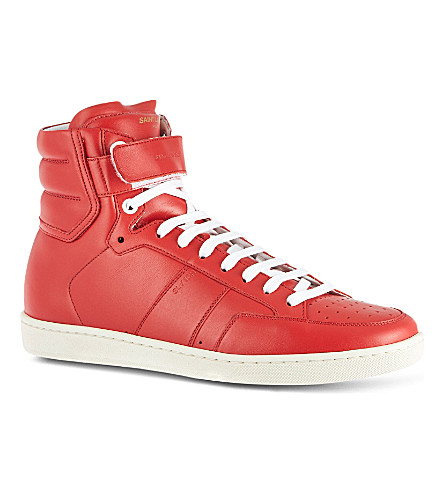 SAINT LAURENT Strapped high tops (Red