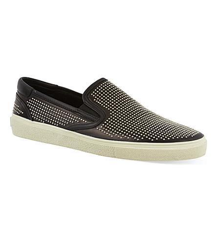 SAINT LAURENT Studded skate shoes (Black