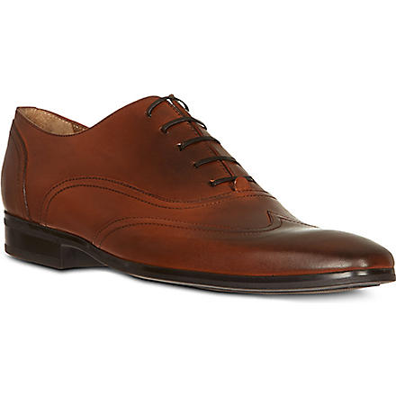 KURT GEIGER Graham leather Oxford shoes (Tan