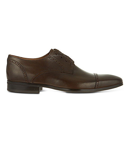 KURT GEIGER Grant leather wingcap shoes (Brown
