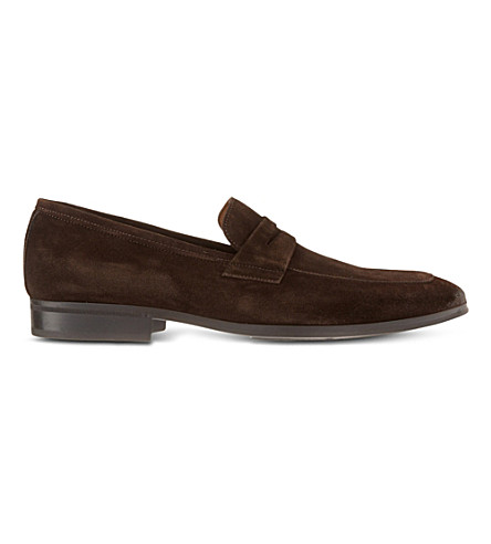 KURT GEIGER LONDON Ginger suede loafers (Brown