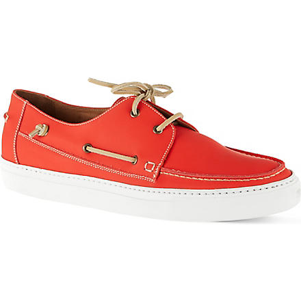 KURT GEIGER Humpton boat shoes (Orange