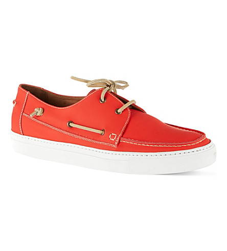 KURT GEIGER LONDON Humpton boat shoes (Orange