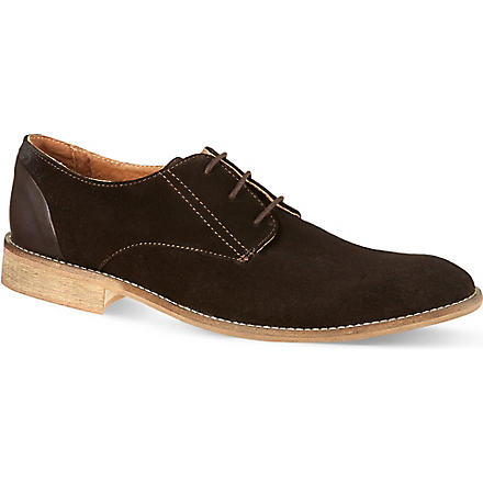 KG KURT GEIGER Canning suede Oxford shoes (Brown