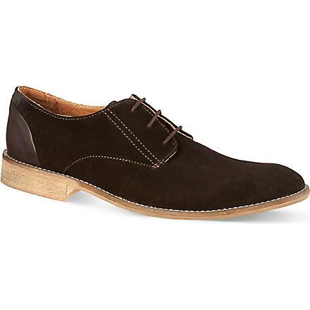 KG KURT GEIGER Canning suede Oxford shoes (Brown