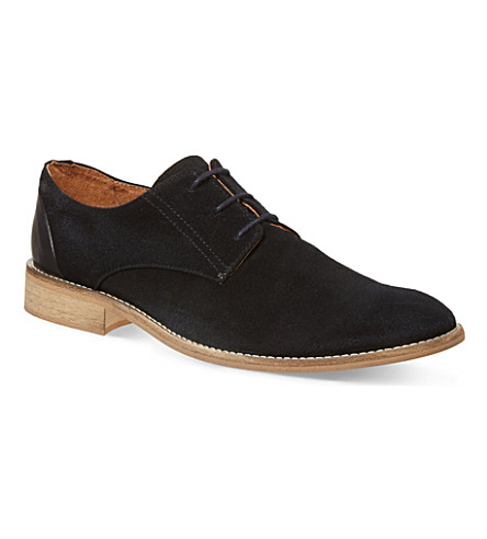 KG KURT GEIGER Canning suede Oxford shoes (Navy