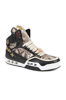 SPX Python-embossed high-top trainers