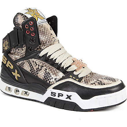 SPX Python-embossed high-top trainers (Blk/other