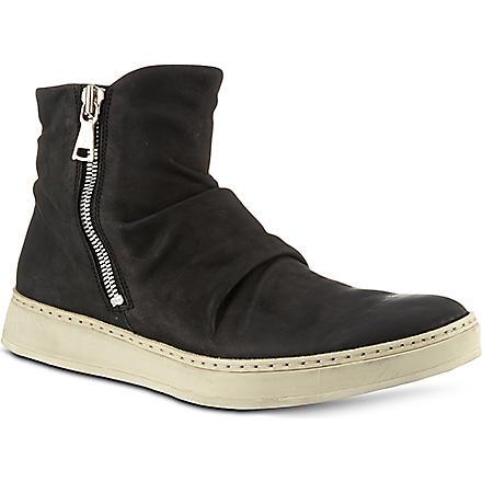 JOHN VARVATOS Mac double zip boots (Blk/white
