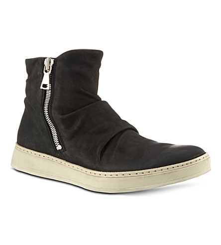 JOHN VARVATOS Mac double zip boots (Blk/white