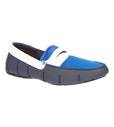 SWIMS Mixed penny loafer (Blue/drk.c